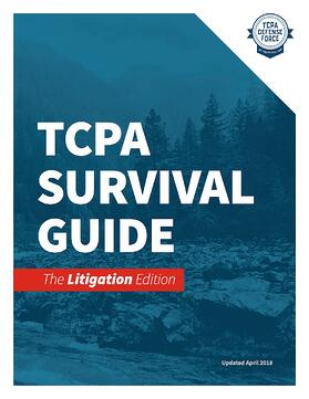 TCPA Survival Guide - The Litigation Edition V02 - Cover Landing